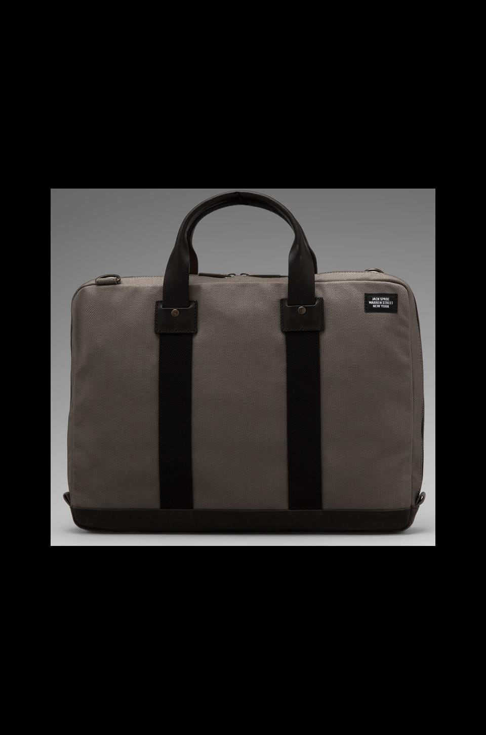 Jack Spade Work Twill Org Brief en Gris/Marine