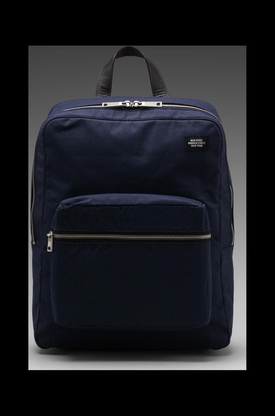 Jack Spade Foundation Canvas Backpack in Navy/Orange