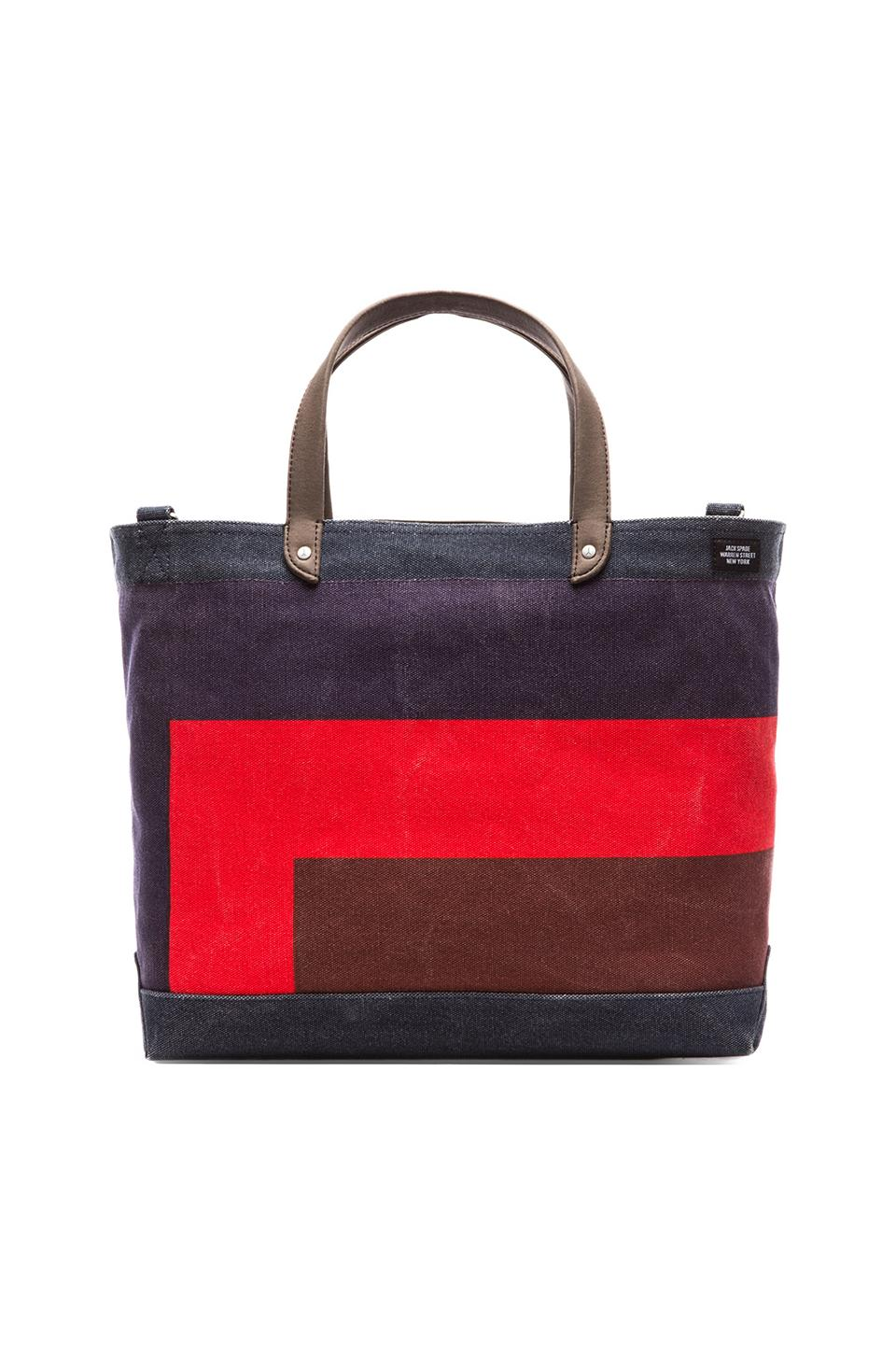 Jack Spade Color Theory Coal Bag in Navy