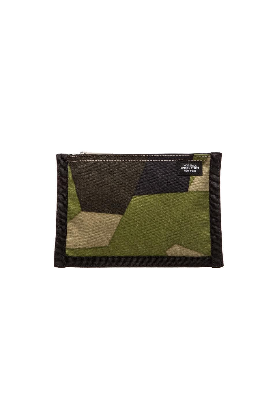 Jack Spade A5 Swedish M90 Camo Pouch in Green