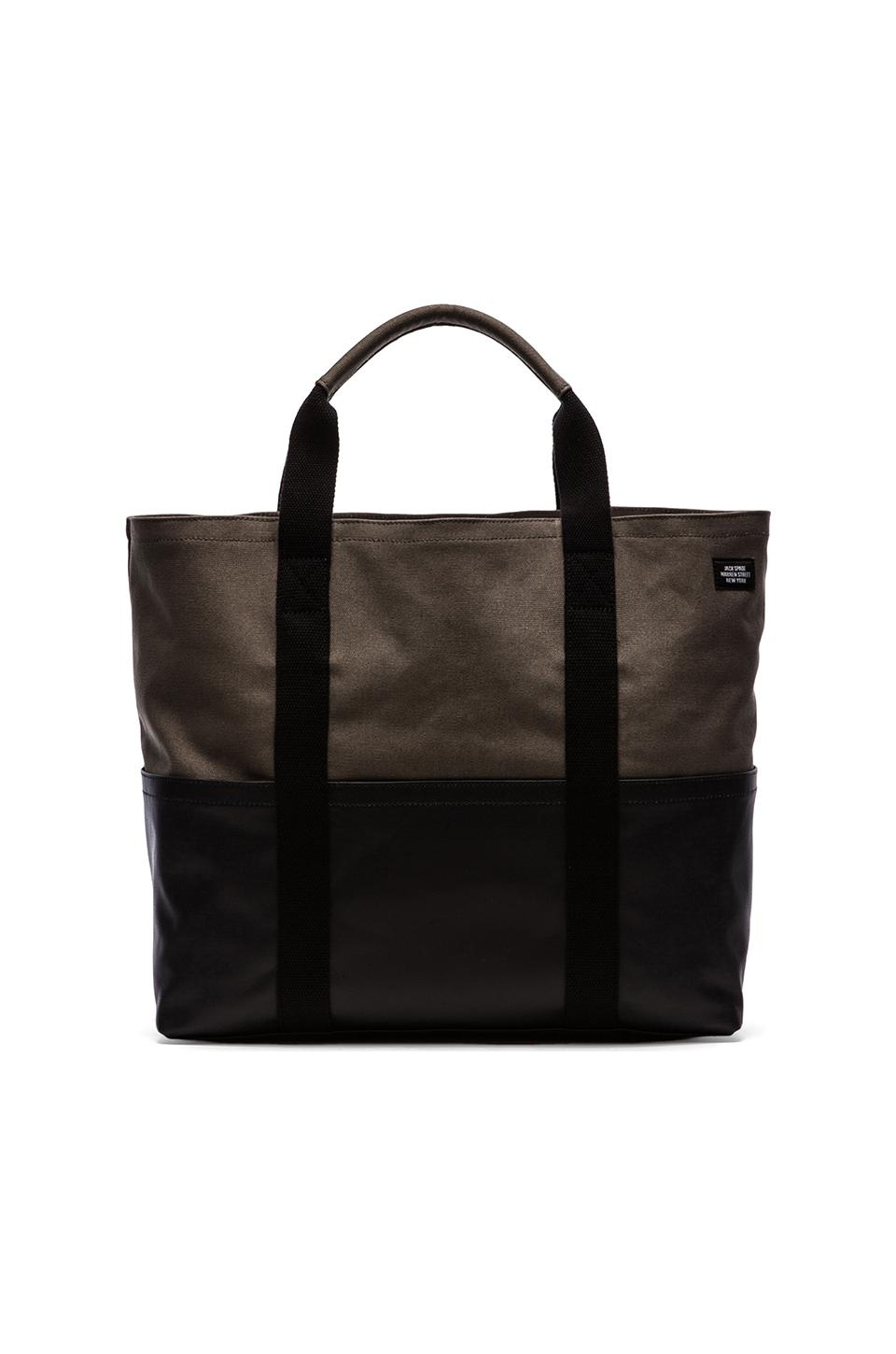 Jack Spade Colorblock Canvas Cargo Tote in Grey & Navy