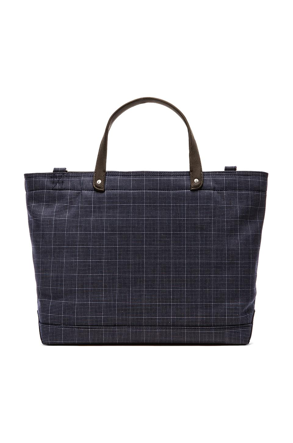 Jack Spade Graph Check Coal Bag in Navy & Black