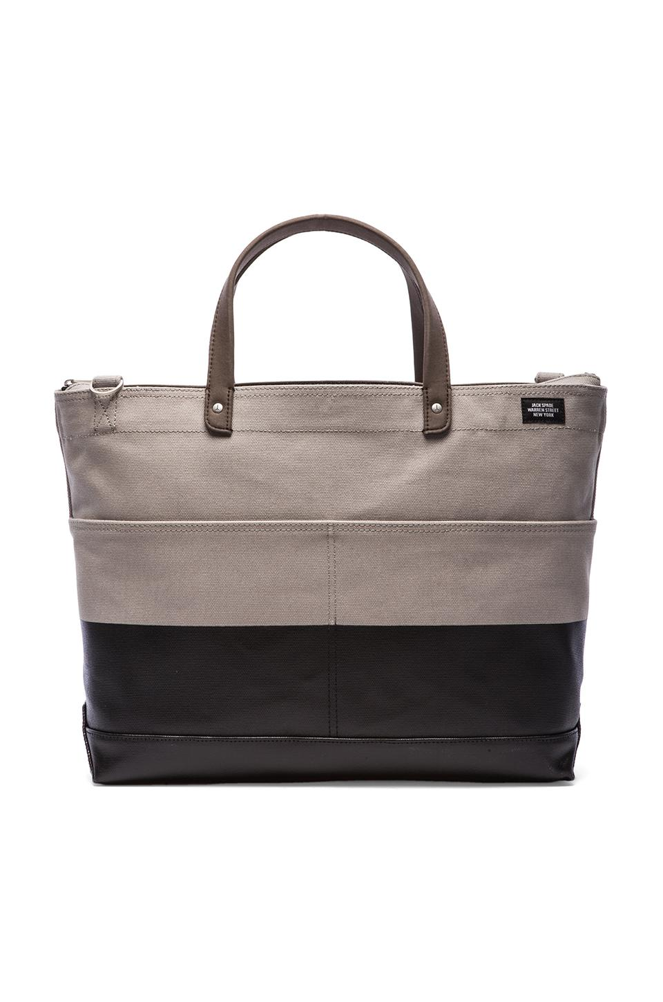 Jack Spade Dipped Industrial Canvas Carpenter Bag in Grey/Black