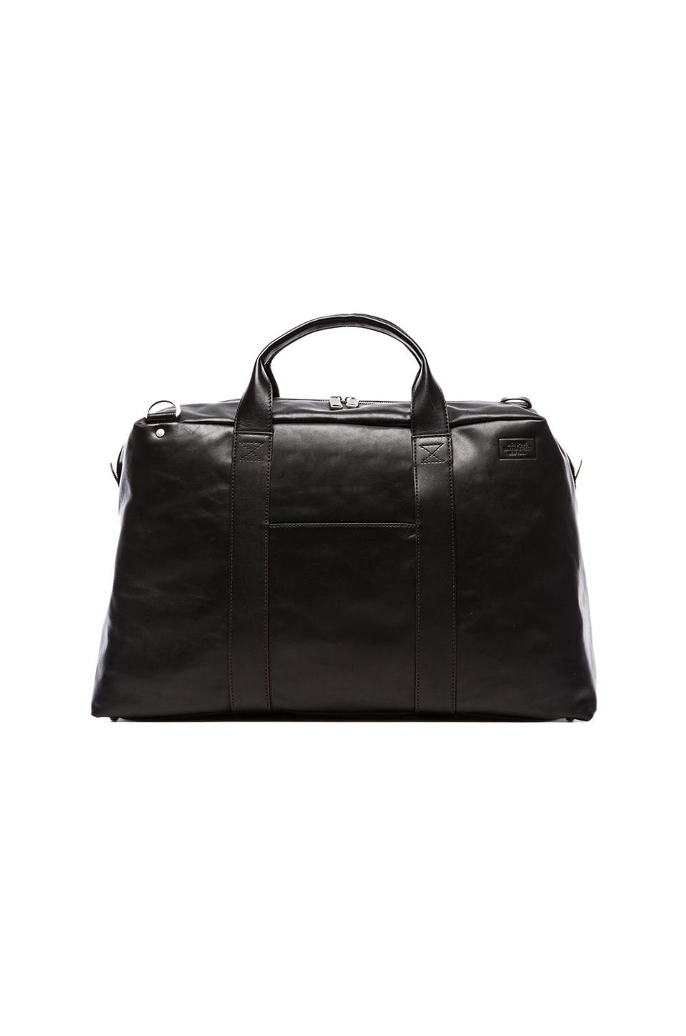 Jack Spade Mill Leather Wayne Duffle in Black