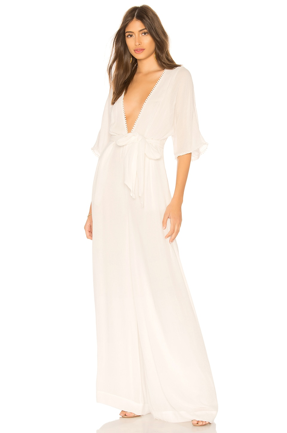 THE JETSET DIARIES Ines Jumpsuit in Ivory