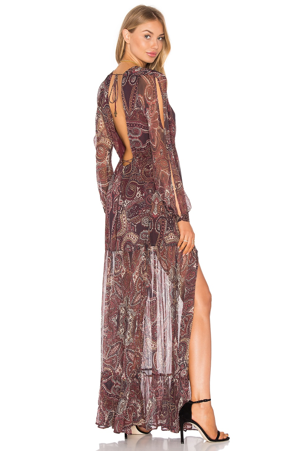 THE JETSET DIARIES Labyrinth Paisley Maxi Dress in Labyrinth Paisley