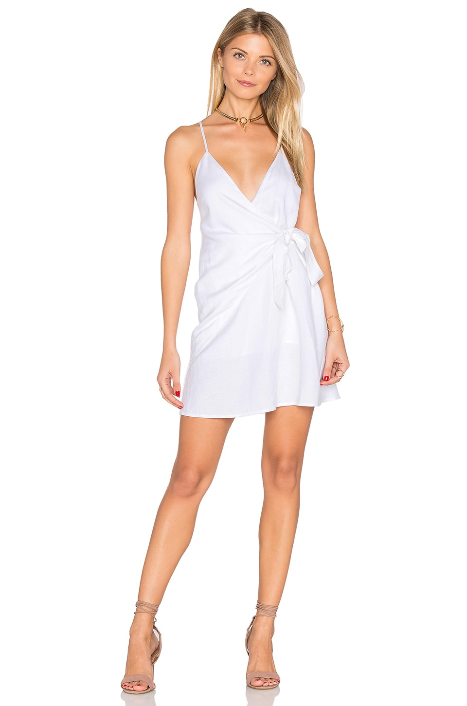 THE JETSET DIARIES Turismo Wrap Dress in Ivory