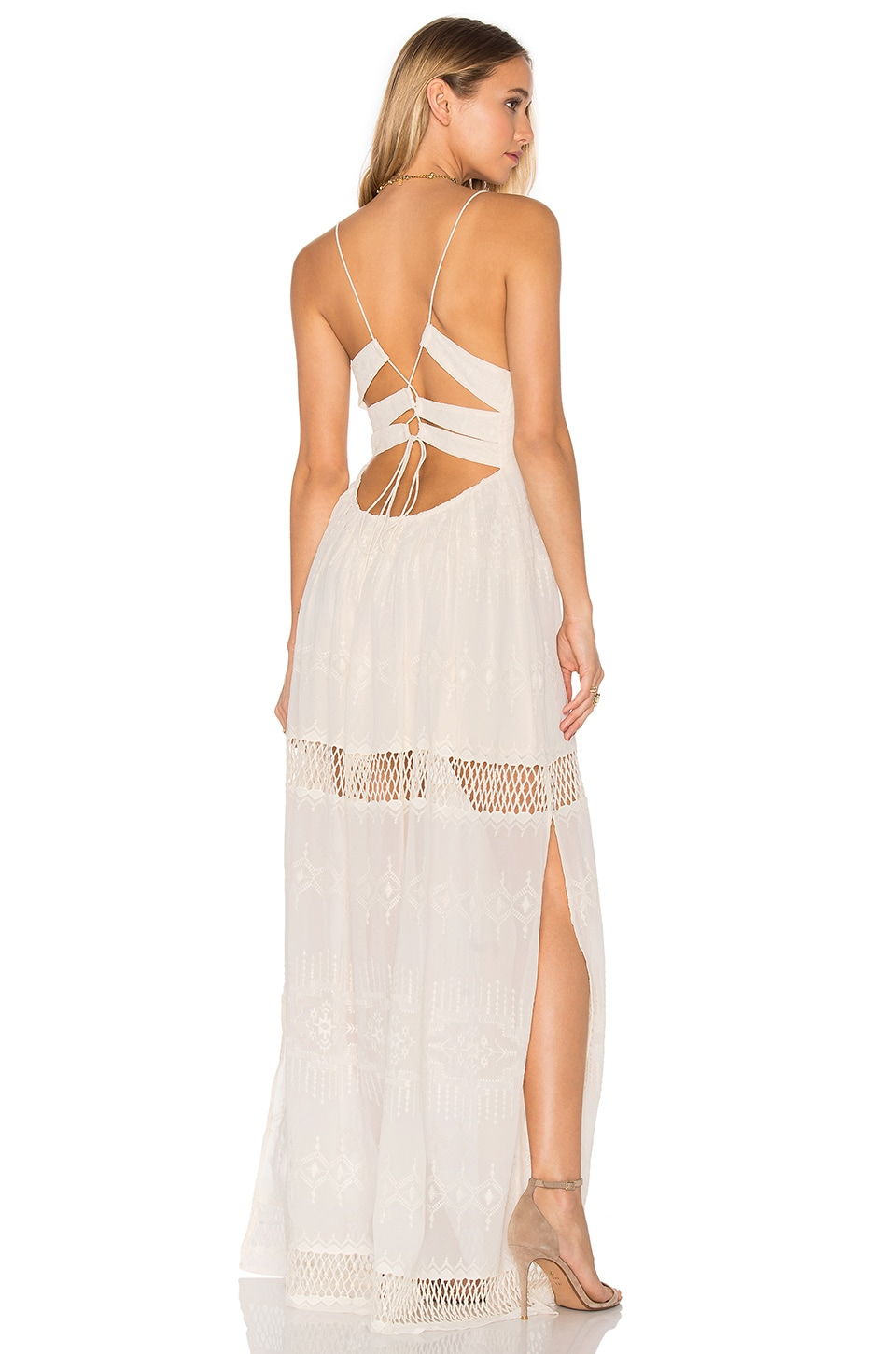 THE JETSET DIARIES Dokuma Maxi Dress in Pearl