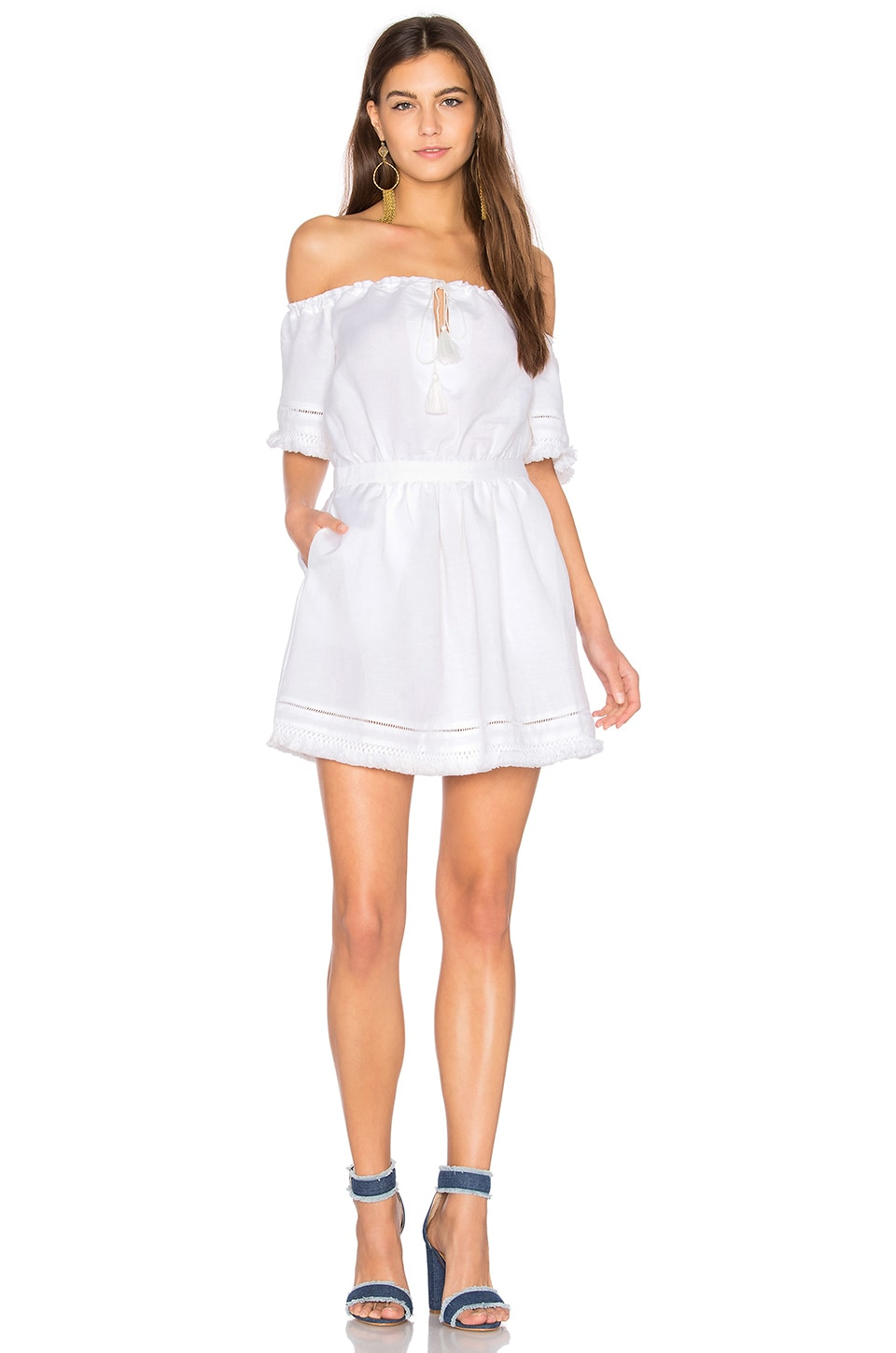 THE JETSET DIARIES Turismo Mini Dress in Ivory