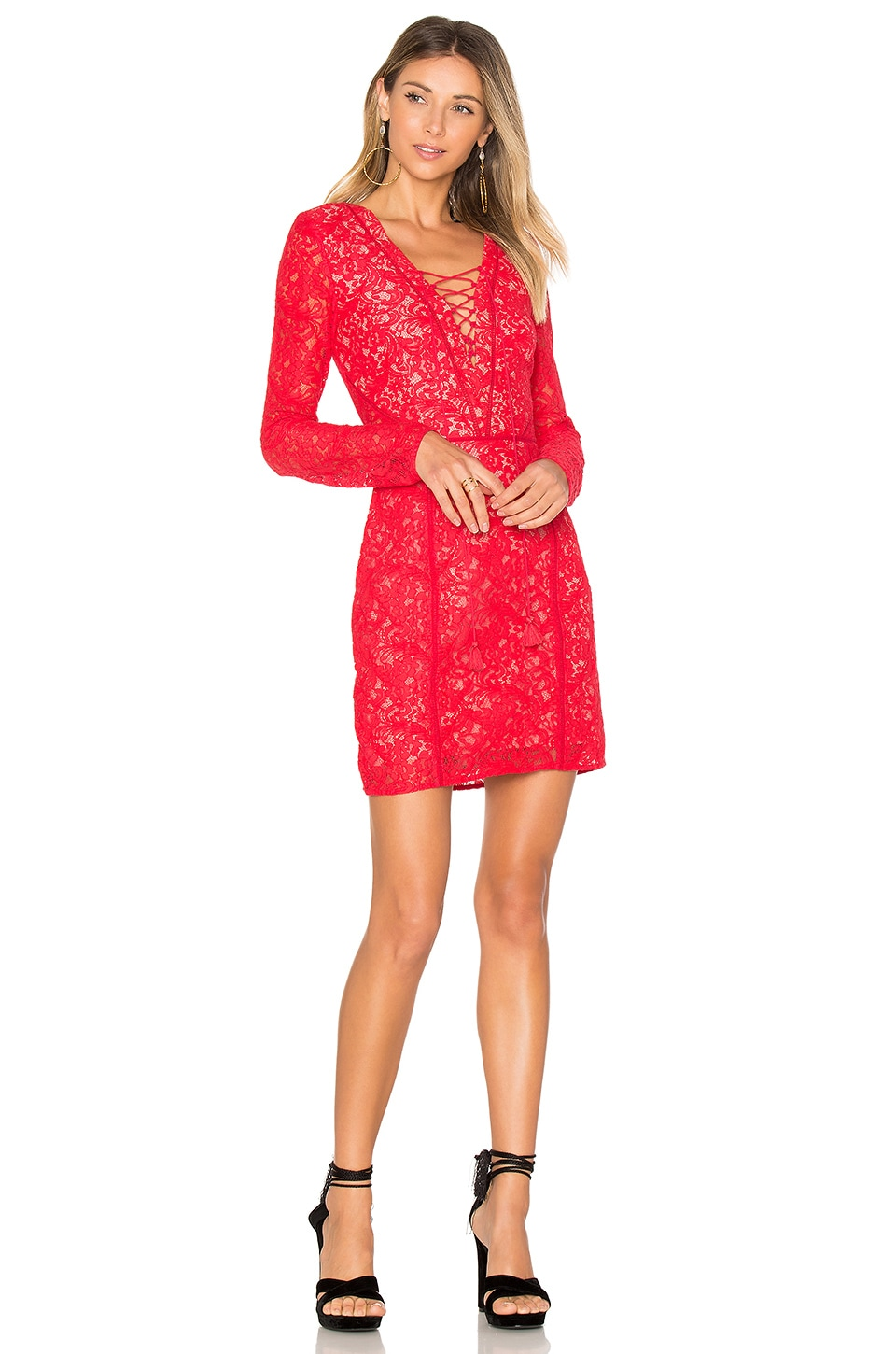 THE JETSET DIARIES Zamira Mini Dress in Rose