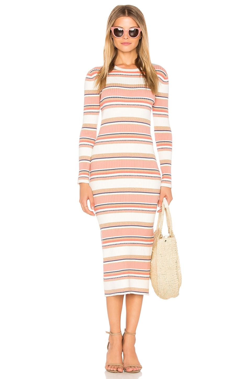 THE JETSET DIARIES Levi Midi Dress in Stripe