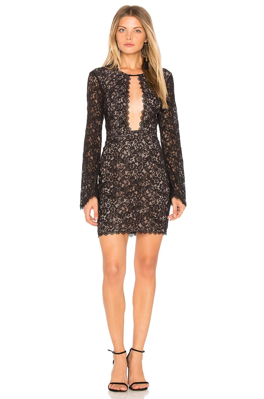 THE JETSET DIARIES Zodiac Mini Dress in Black