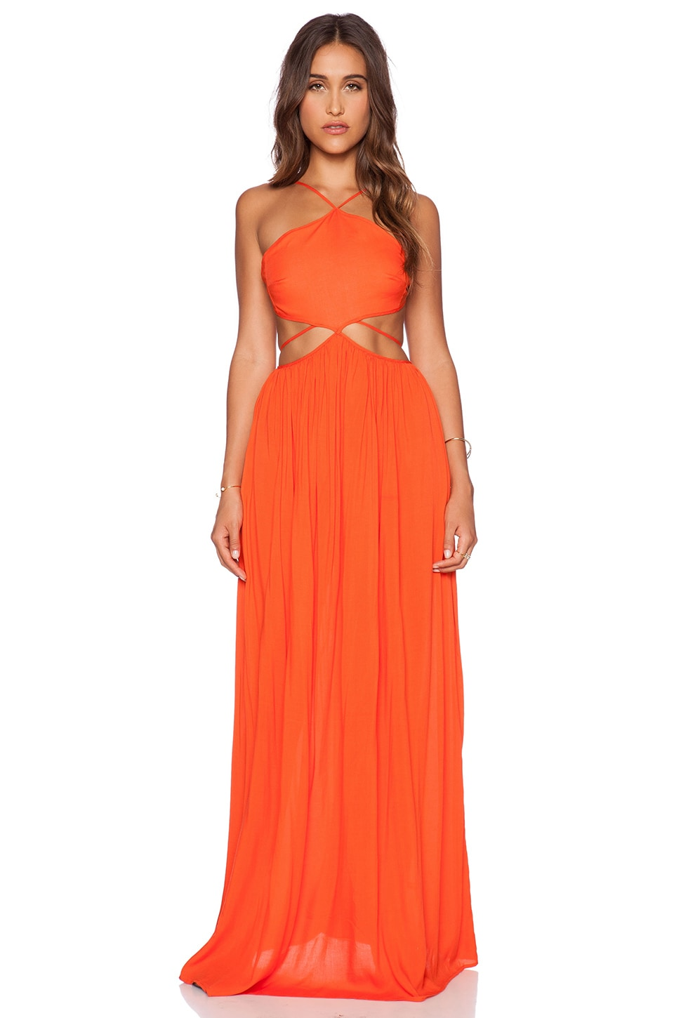 THE JETSET DIARIES Carnivale Maxi Dress in Mandarin