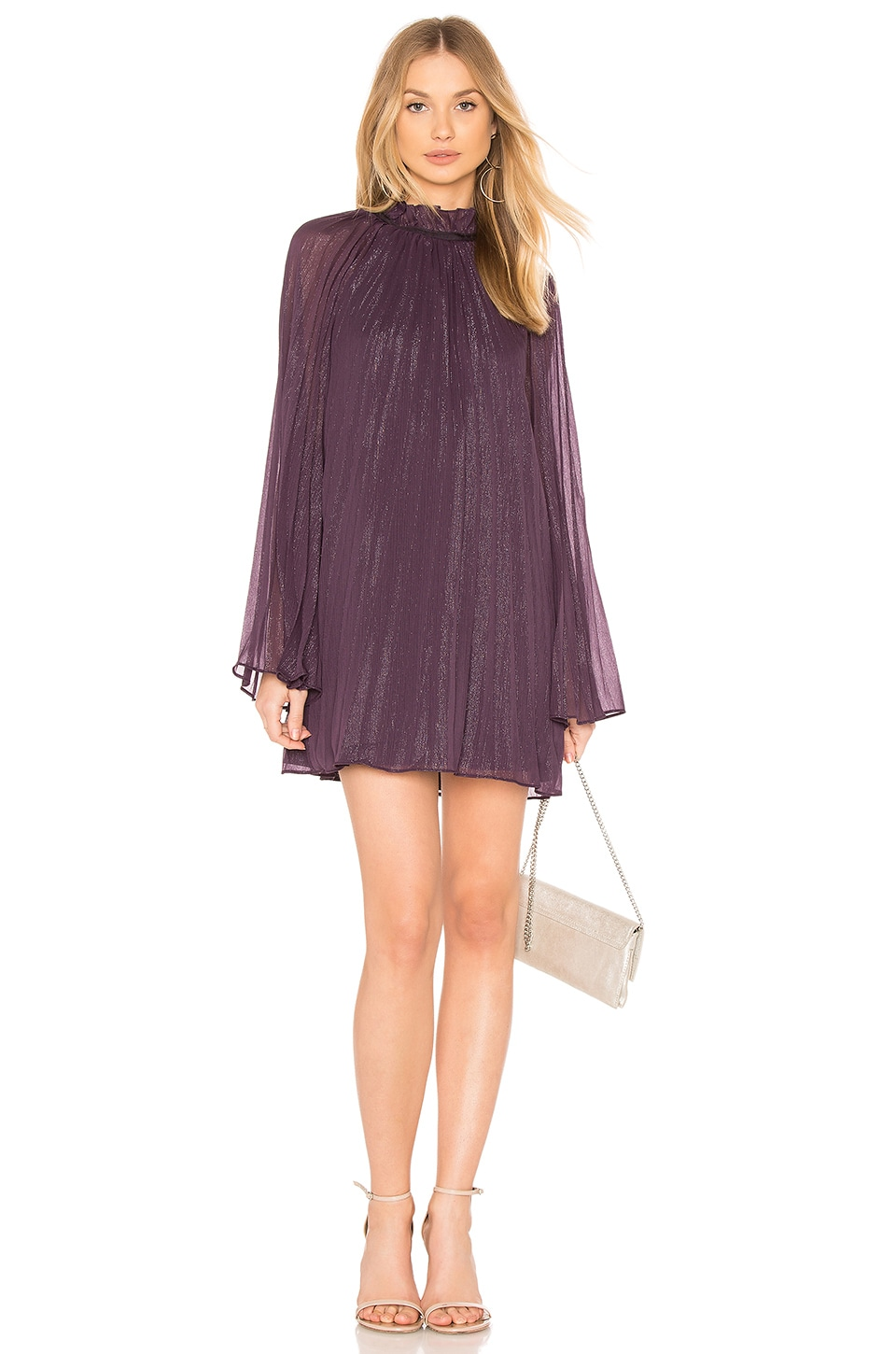THE JETSET DIARIES Shiva Mini Dress in Aubergine
