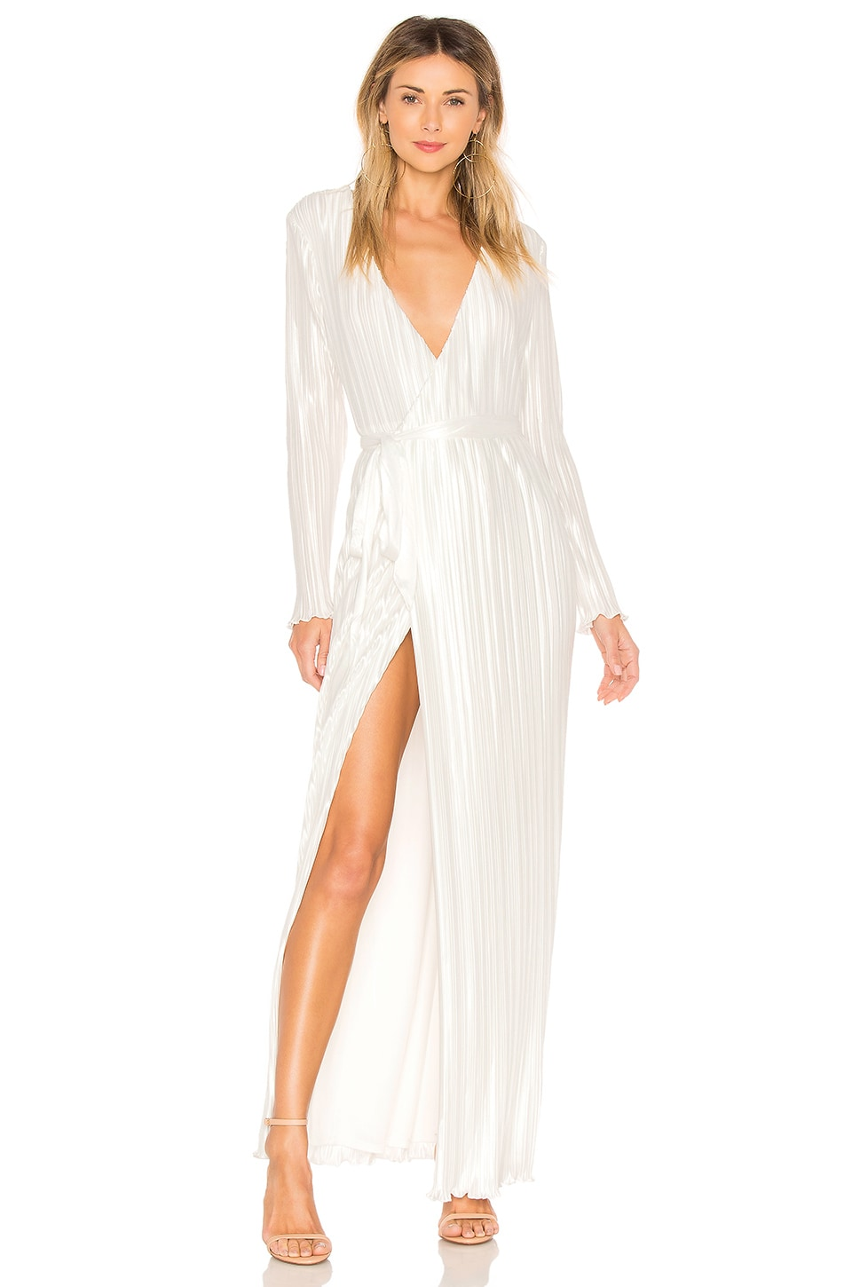 THE JETSET DIARIES Aster Wrap Maxi Dress in Ivory