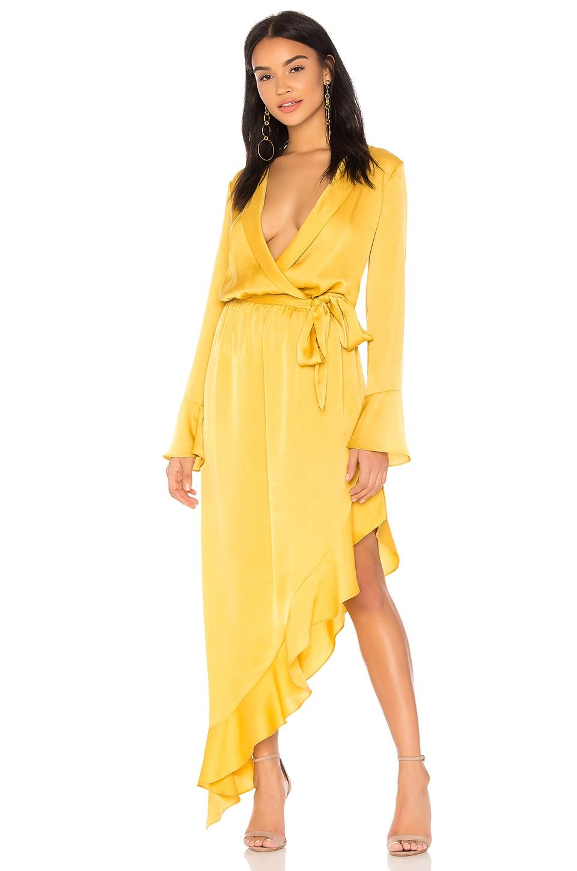 THE JETSET DIARIES Topaz Maxi Dress in Gold