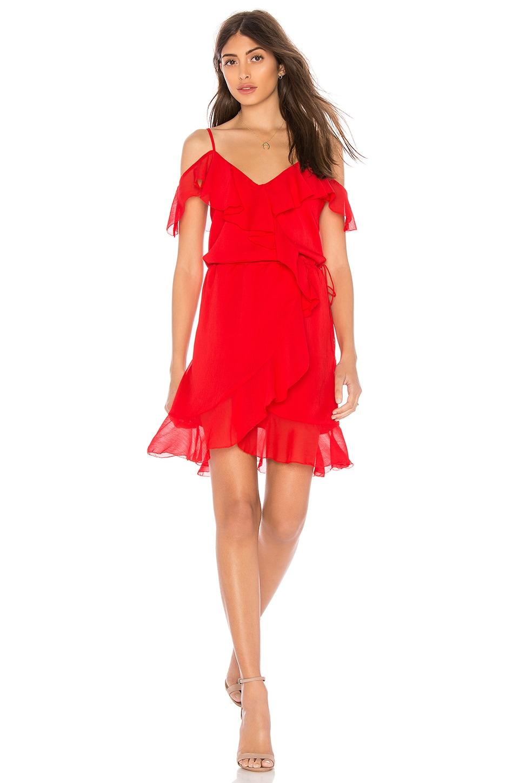 THE JETSET DIARIES Sintra Mini Dress in Crimson