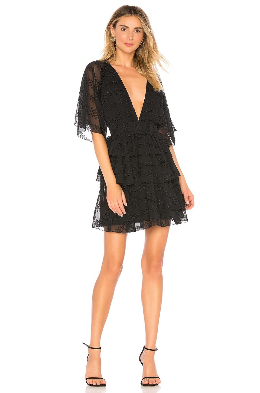 THE JETSET DIARIES Twiggy Mini Dress in Black