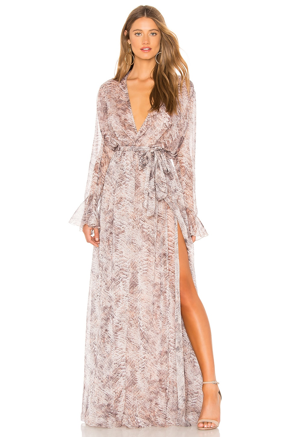THE JETSET DIARIES Basilisk Maxi Dress in Snake Print