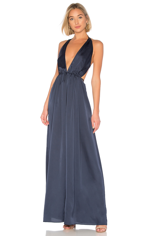 THE JETSET DIARIES Louvre Maxi Dress in Blue Iris