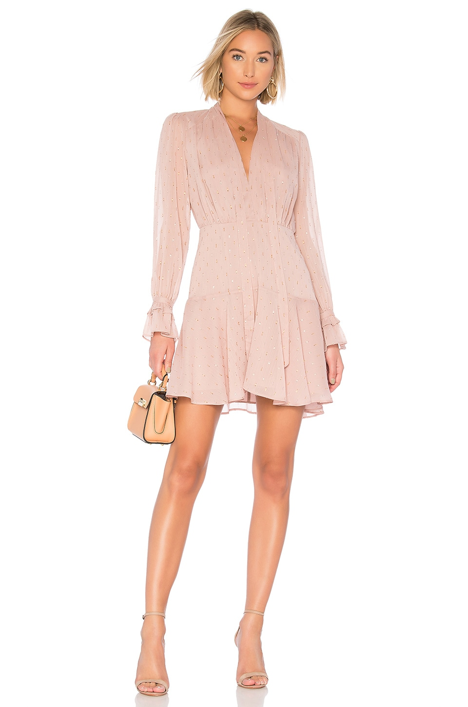 THE JETSET DIARIES Lily Rose Mini Dress in Rose