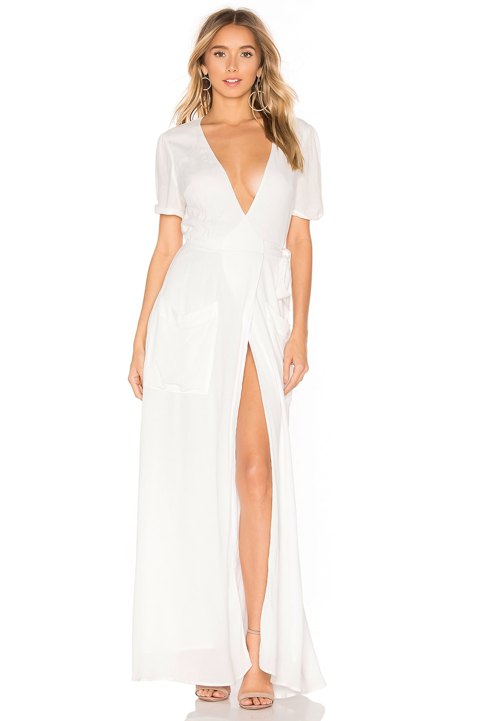 THE JETSET DIARIES Freebird Maxi Dress in White