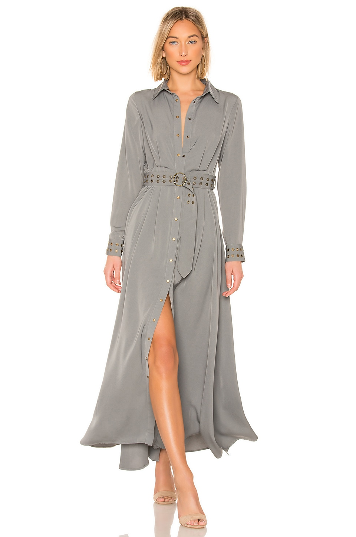 THE JETSET DIARIES Mod Maxi Shirt Dress in Deep Olive