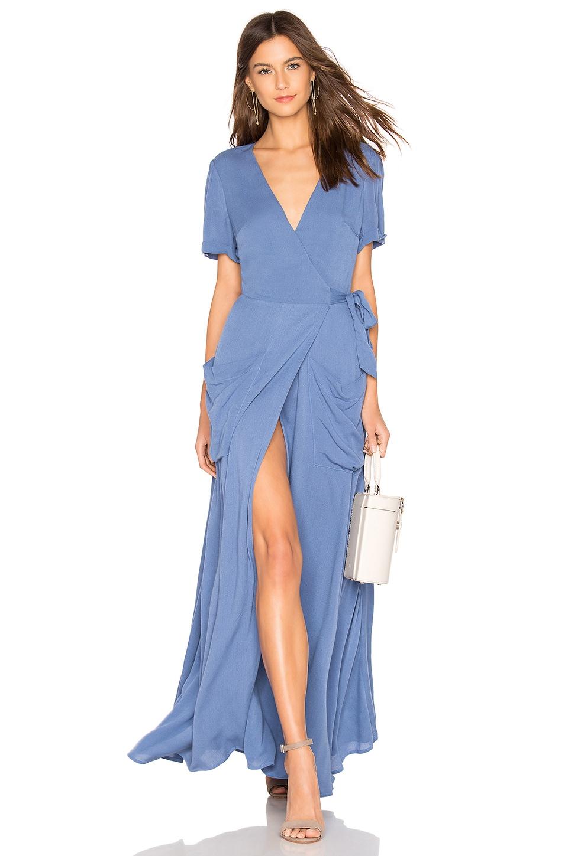 THE JETSET DIARIES Freebird Maxi Dress in Cerulean Blue