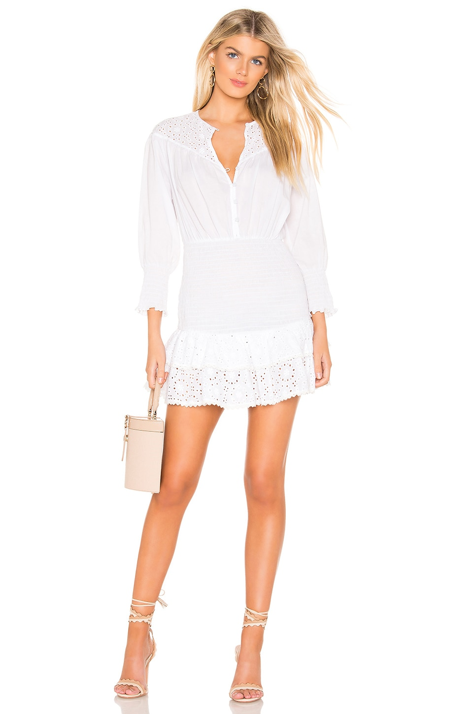 THE JETSET DIARIES Highway Star Mini Dress in Off White