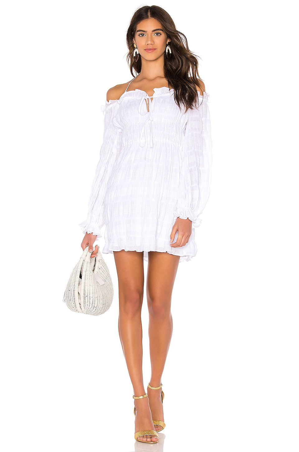 THE JETSET DIARIES Knockin On Heavens Door Mini Dress in Ivory