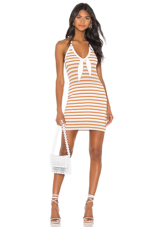THE JETSET DIARIES Lost My Head Mini Dress in Multi Stripe