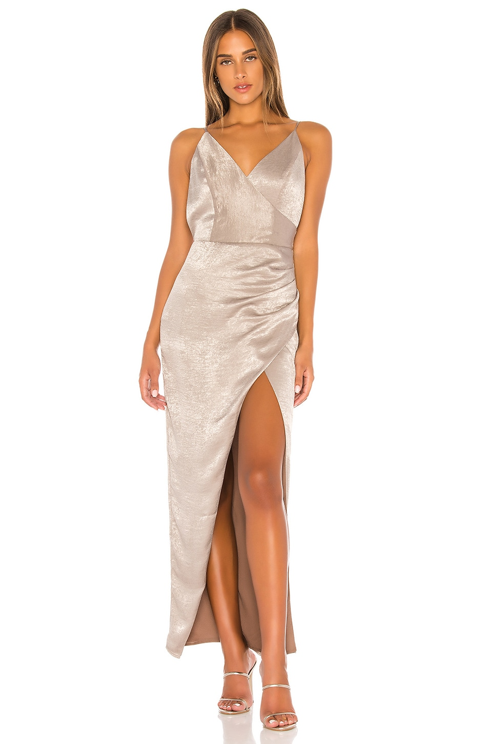 THE JETSET DIARIES Get Up Maxi Dress in Stone