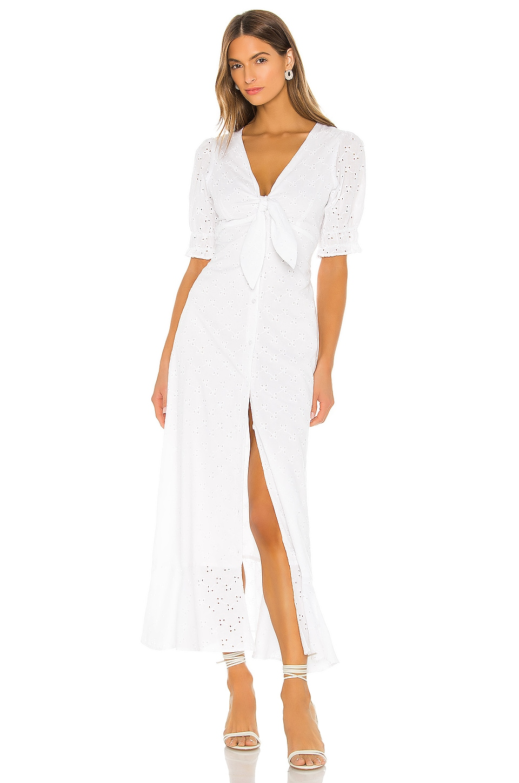 THE JETSET DIARIES Highway Tune Midi Dress in White