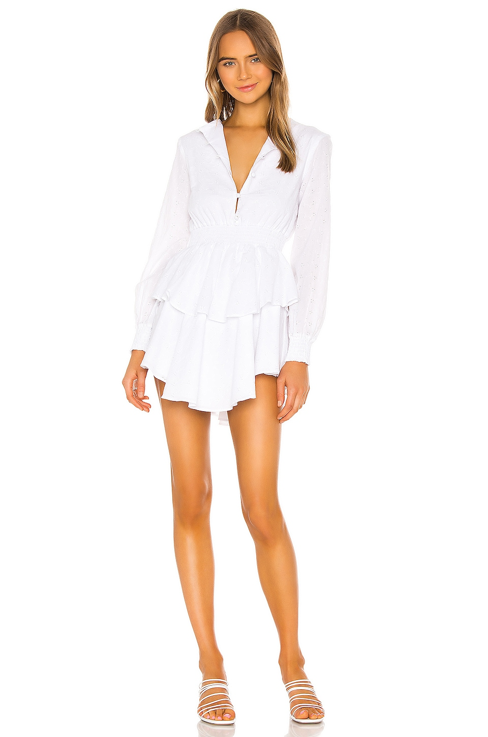 THE JETSET DIARIES Lover To Lover Mini Dress in White