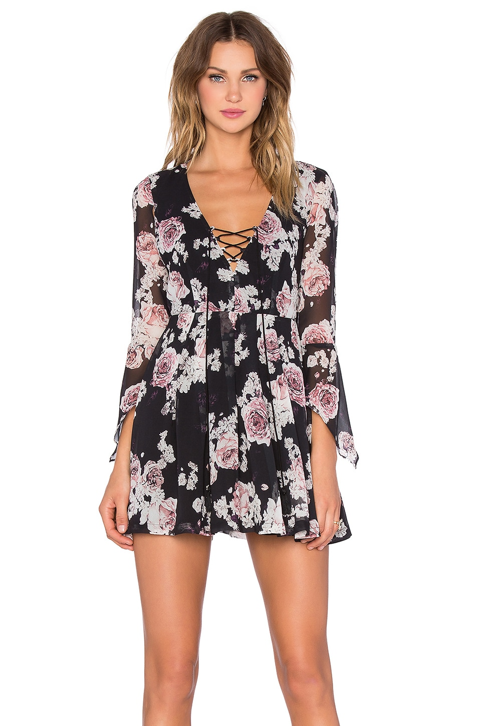THE JETSET DIARIES Rosa Floral Dress in Rosa Floral | REVOLVE