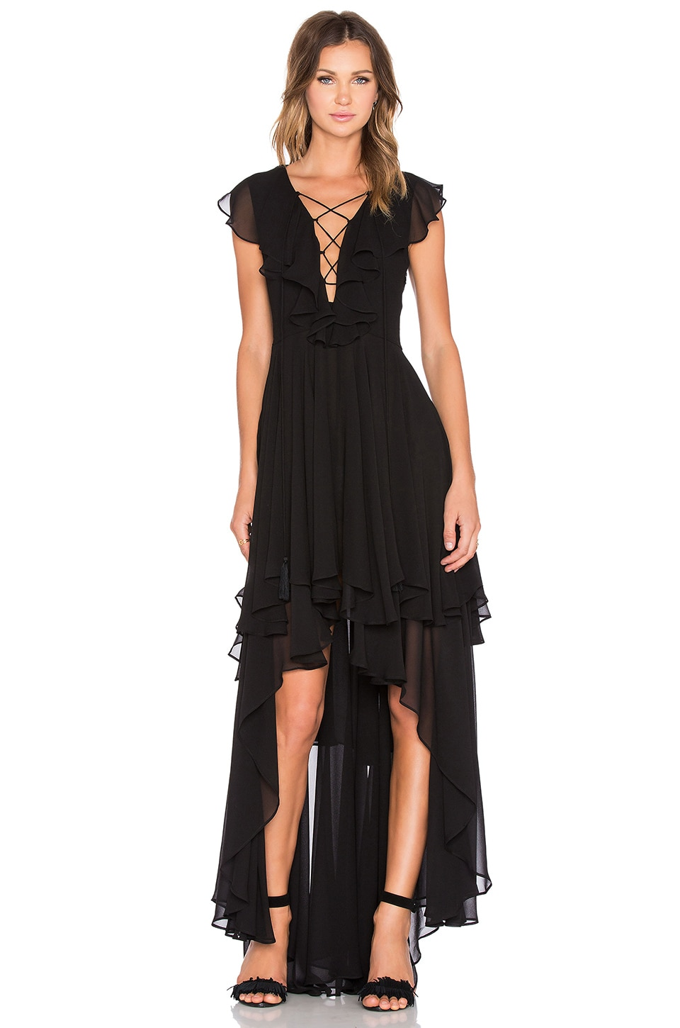 THE JETSET DIARIES Dio Maxi Dress in Black