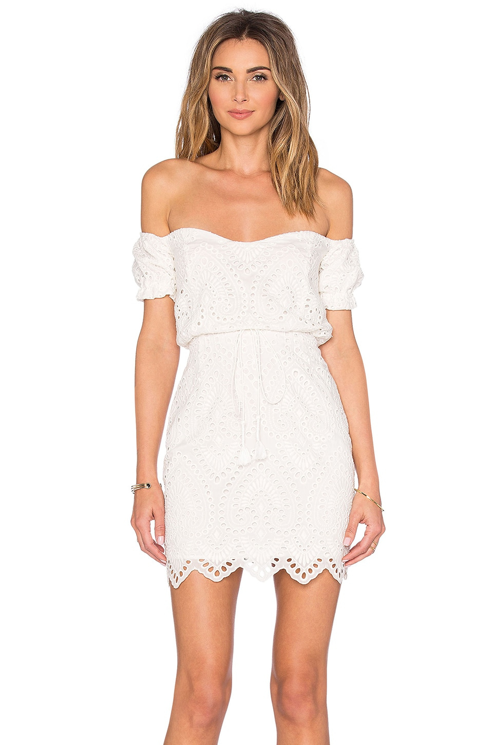 THE JETSET DIARIES Santa Fe Mini Dress in Ivory