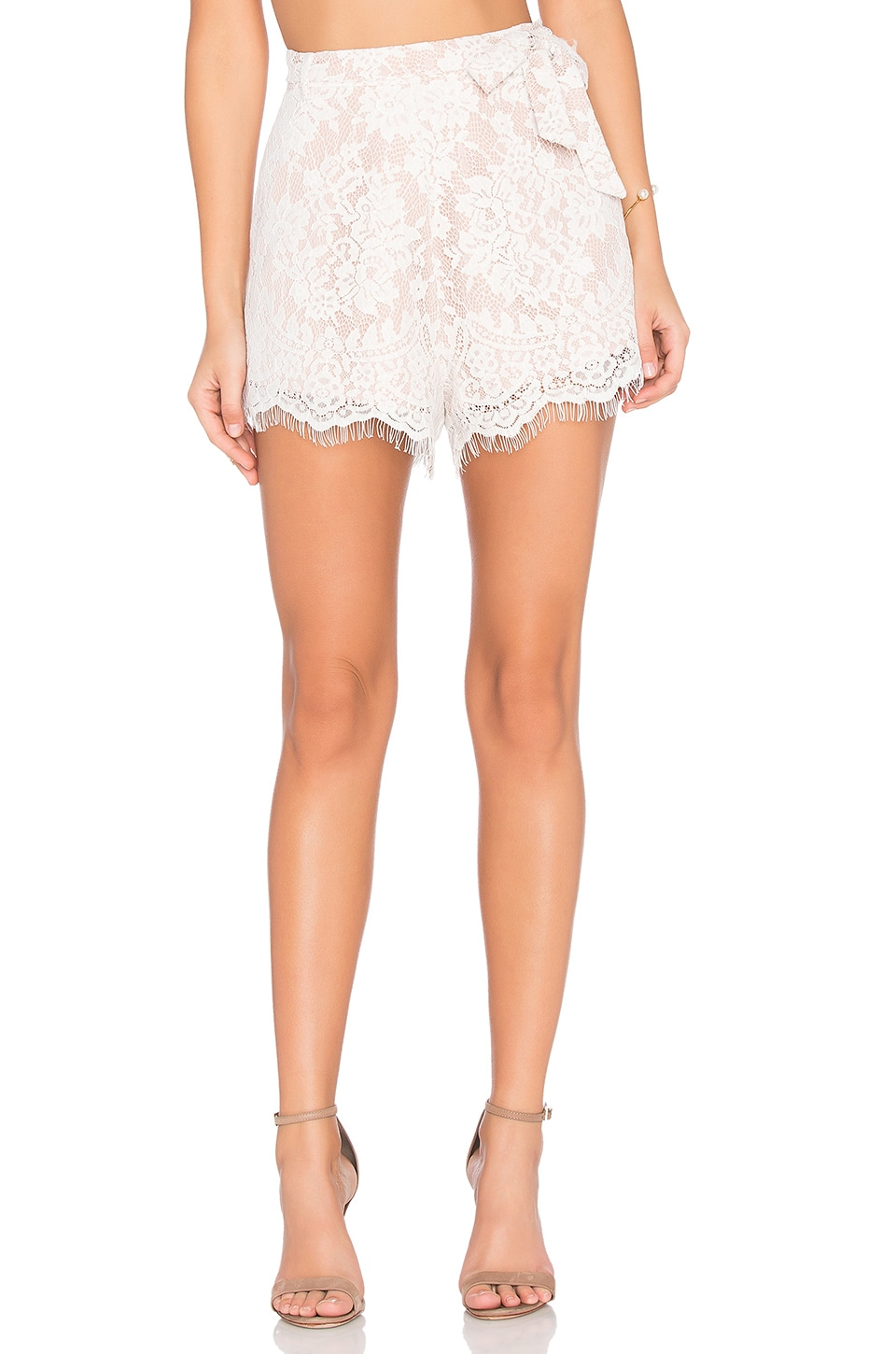 THE JETSET DIARIES x Revolve Secret Lace Short in Ivory