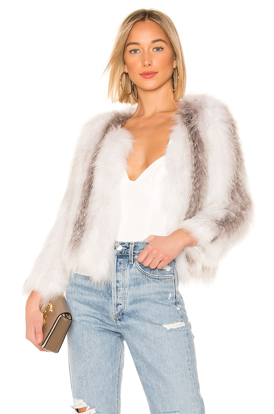 THE JETSET DIARIES Don't Stop Fur Jacket in Multi