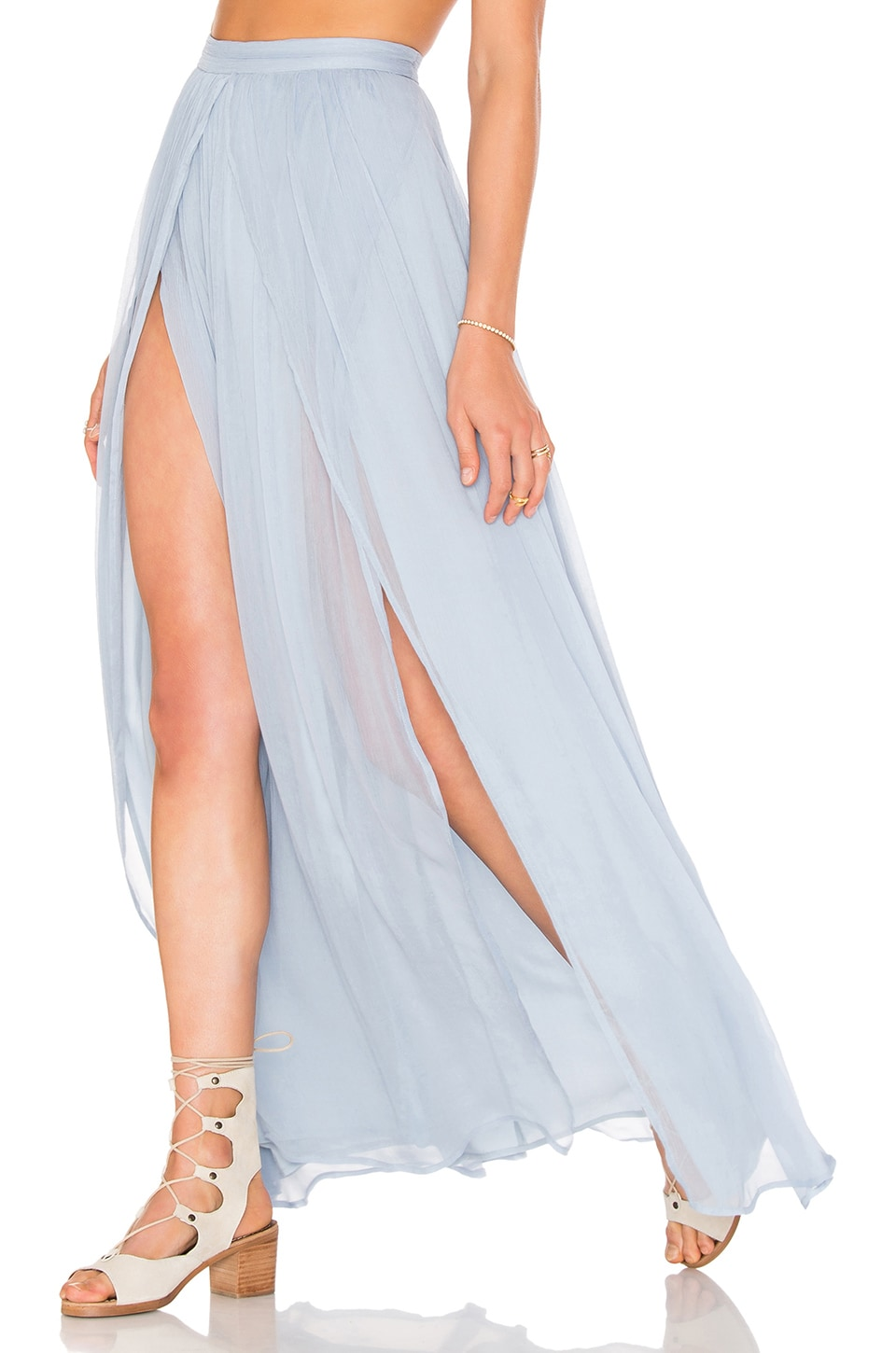 THE JETSET DIARIES x Revolve Prima Maxi Skirt in Blue Lagoon