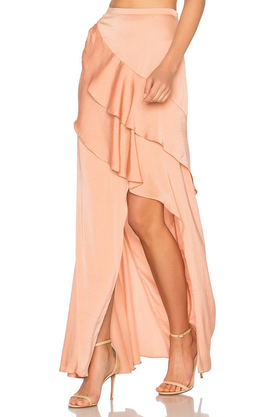 THE JETSET DIARIES Omara Maxi Skirt in Copper