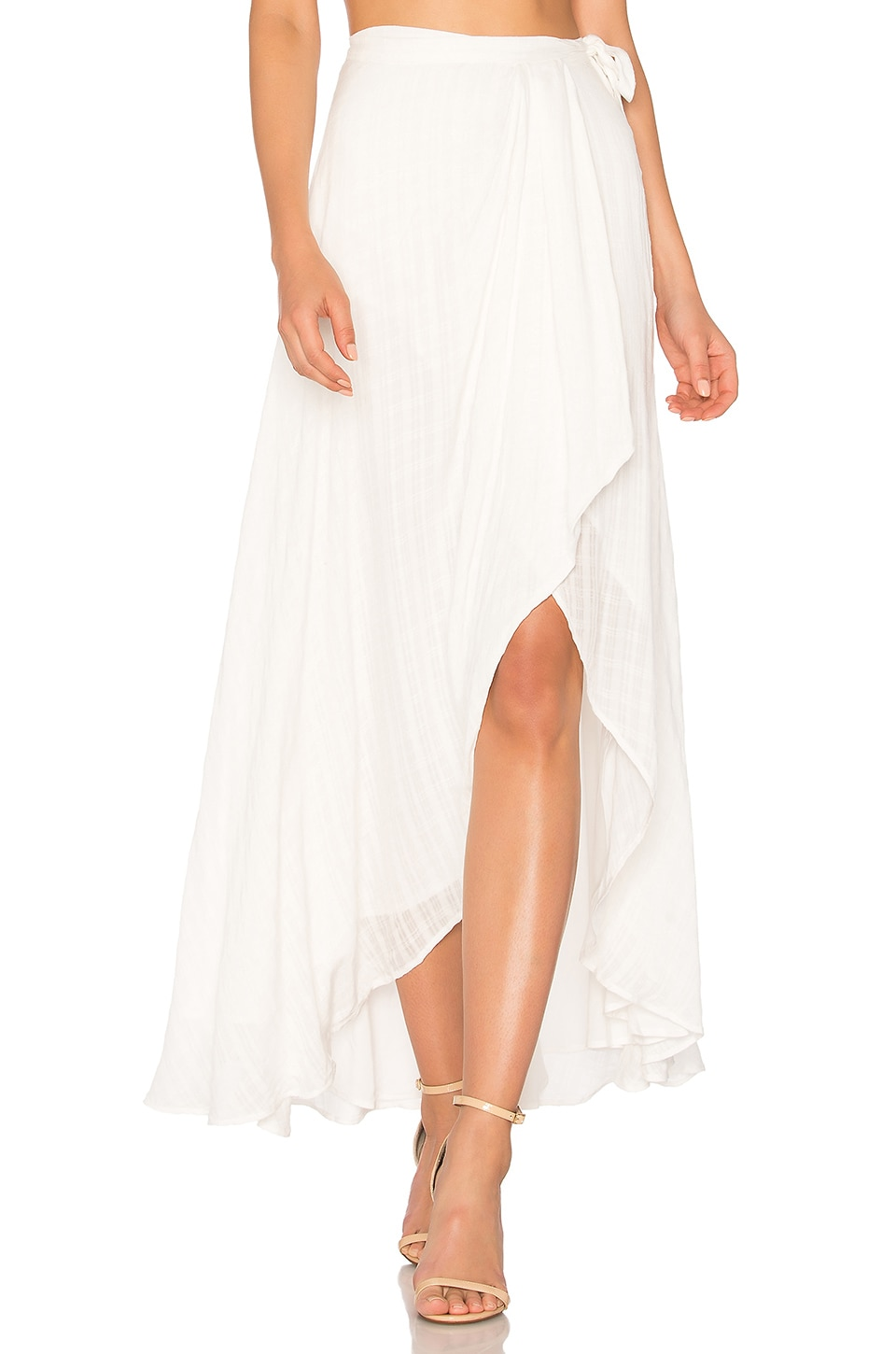 THE JETSET DIARIES Iris Maxi Skirt in Ivory