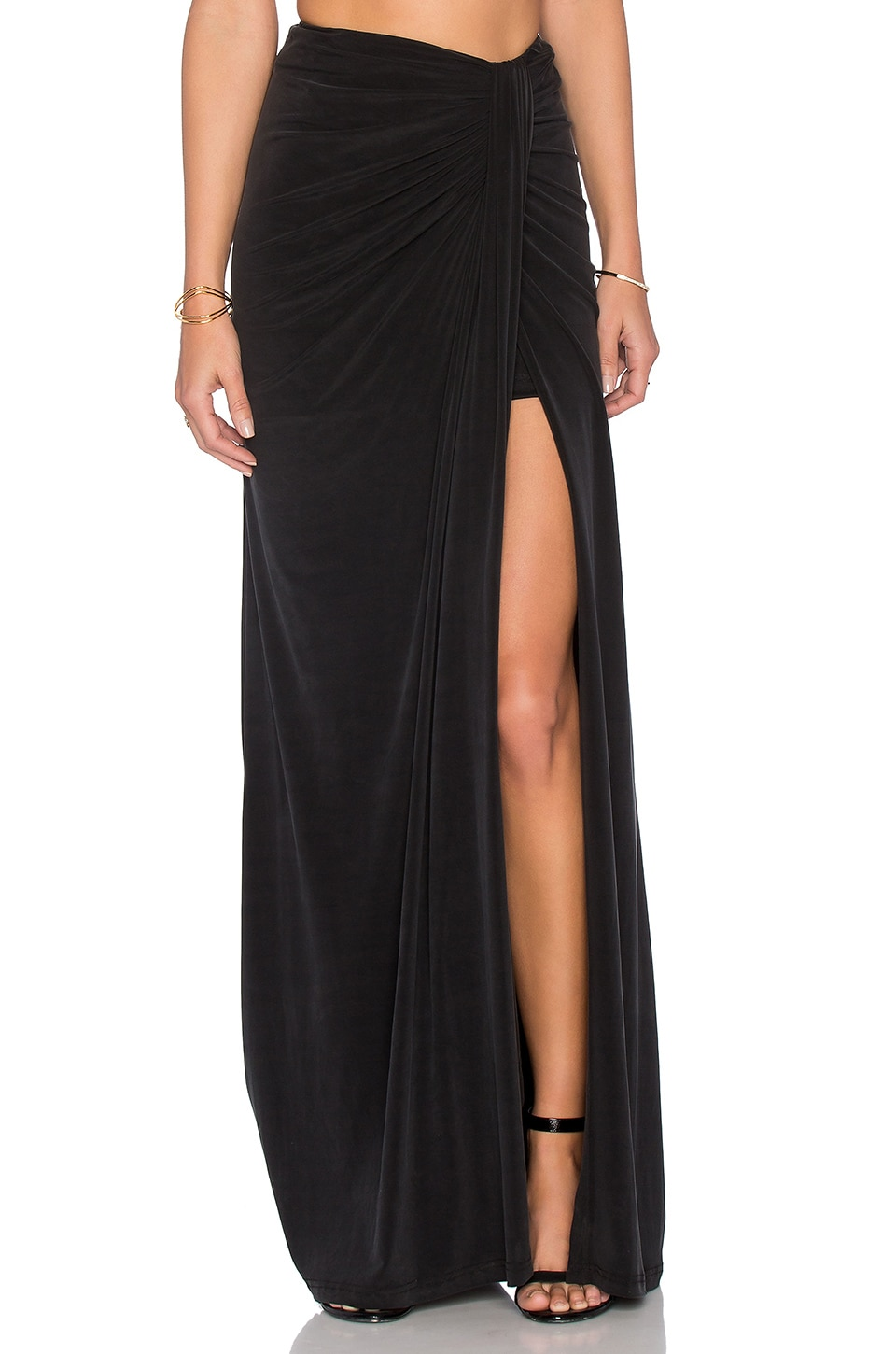 THE JETSET DIARIES Serenity Maxi Skirt in Black