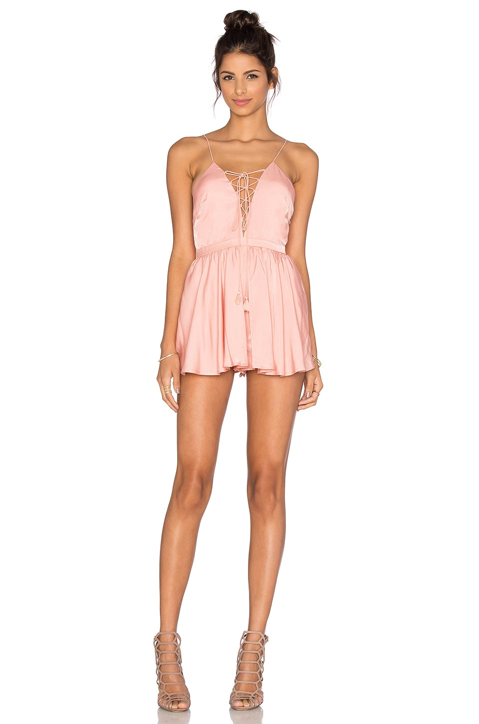 THE JETSET DIARIES Lotus Romper in Blush
