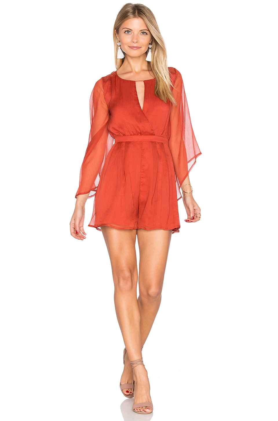 THE JETSET DIARIES Ara Romper in Rust