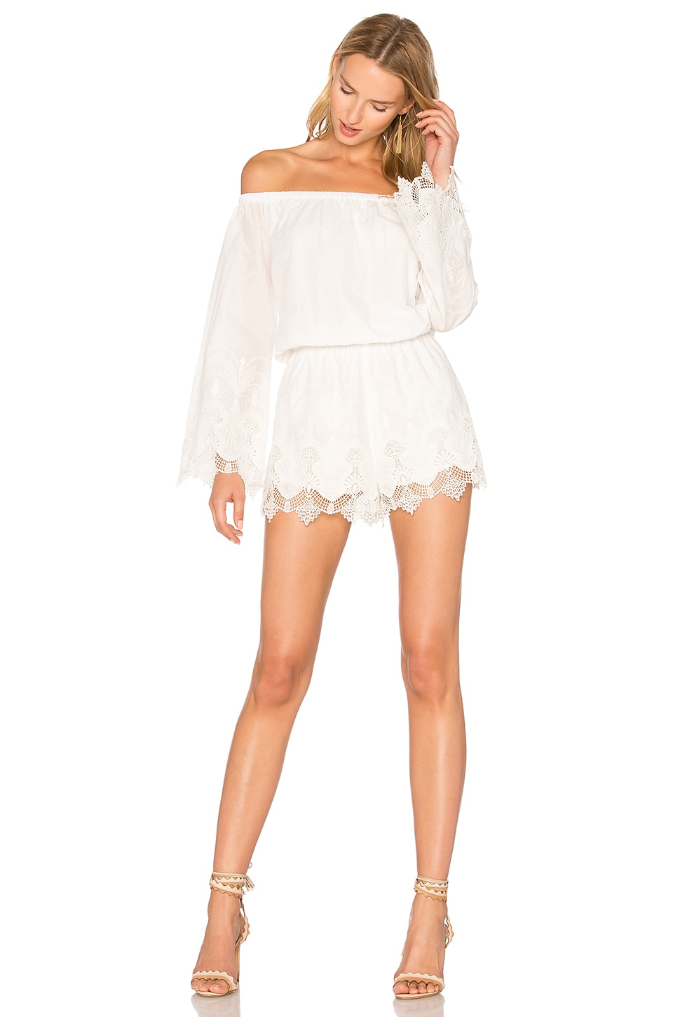 THE JETSET DIARIES Camila Romper in Ivory