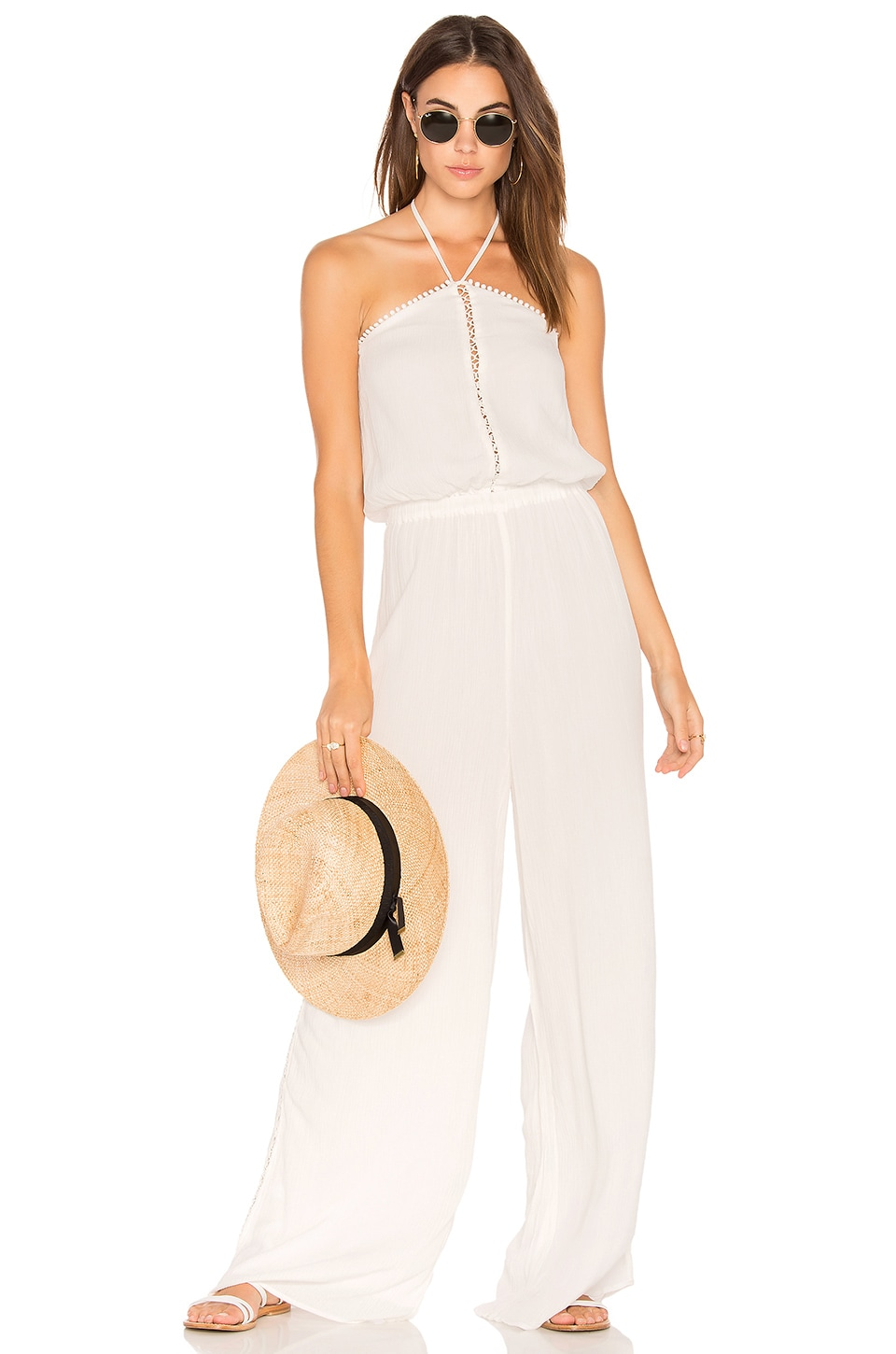 THE JETSET DIARIES Golden Island Jumpsuit in Ivory