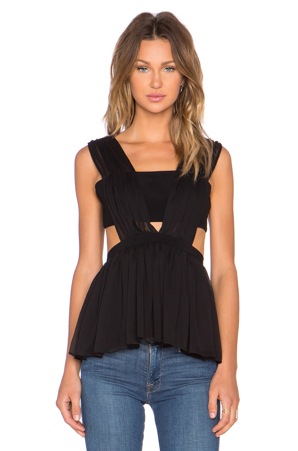 THE JETSET DIARIES Embrace Top in Black