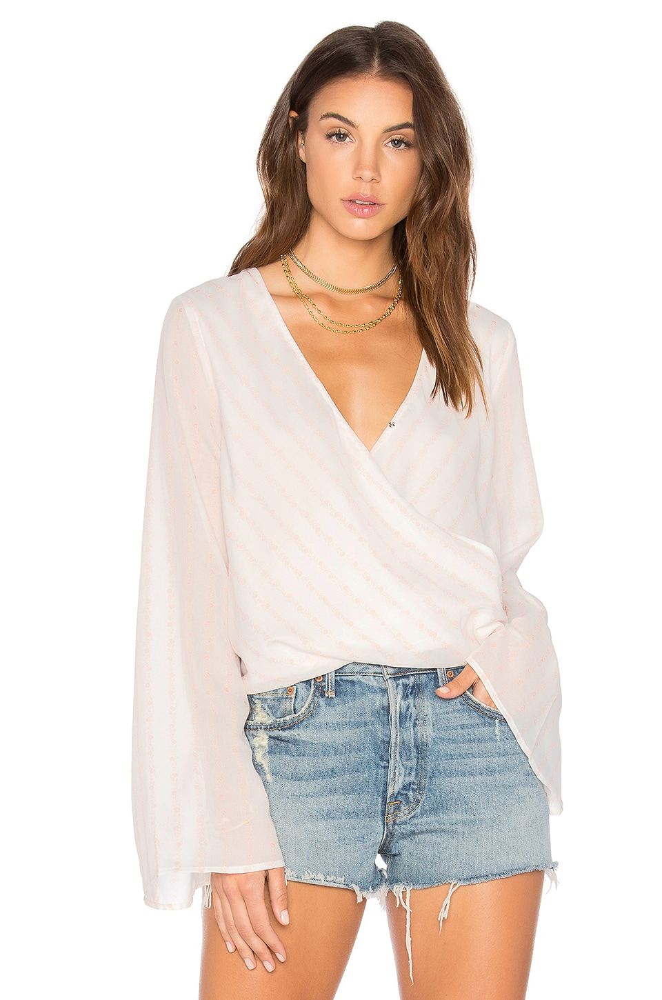 THE JETSET DIARIES Sanja Wrap Top in Tie Dye Stripe