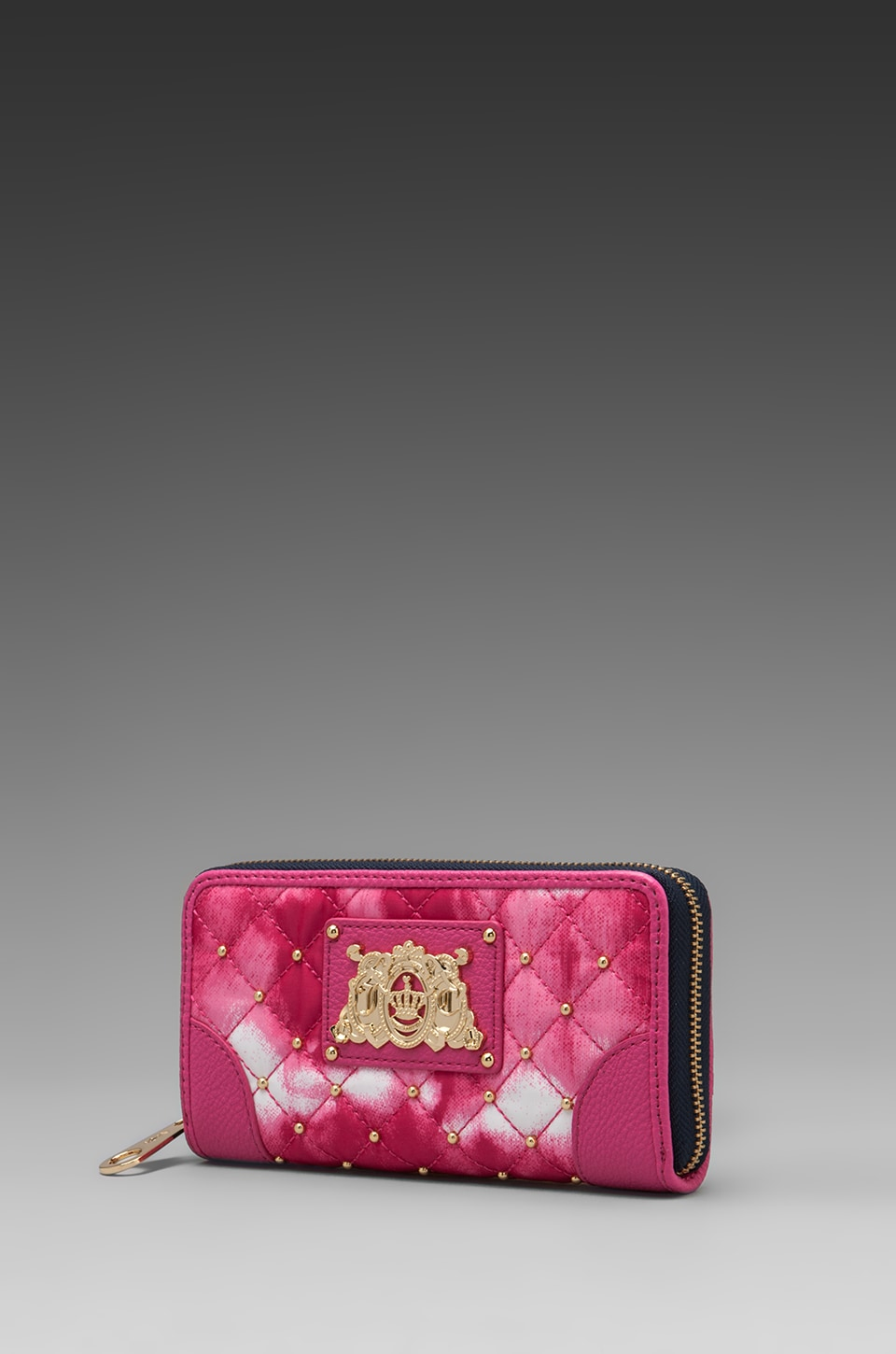 Juicy Couture Nylon Zip Wallet in Pink Tie Dye